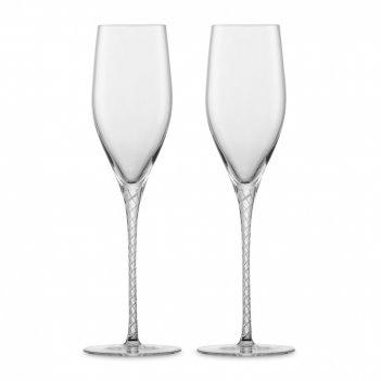 Набор фужеров для шампанского, ручная работа, объем 254 мл, 2 шт, серия sp