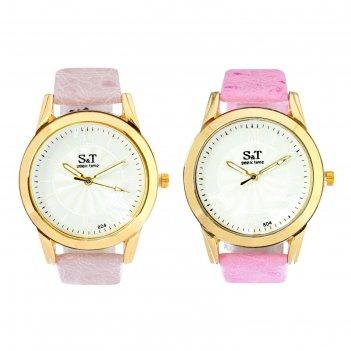 Часы наручные женские сит, циферблат d=3,6 см, сиреневый микс