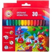 Фломастеры трехгранные 30 цветов утята, европодвес