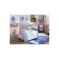 Комплект в кроватку lovely birds, 6 предметов, цвет синий