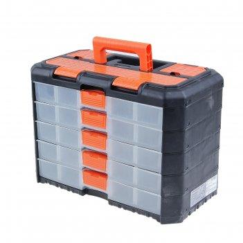 Органайзер для инструментов grand, 5 секций, черно-оранжевый