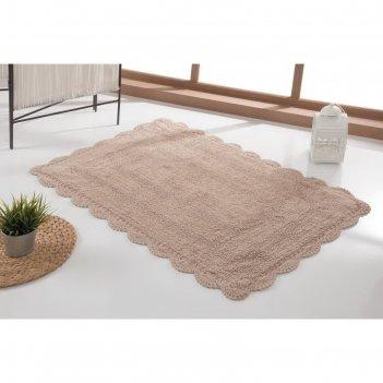 Коврик для ванной, evora, 60х100 см, цвет бежевый 5089