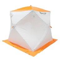 Палатка призма 170 (2-сл) стандарт композит, бело-оранжевая