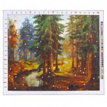 Канва для вышивания с рисунком «карл розен. река в лесу», 47 х 39 см