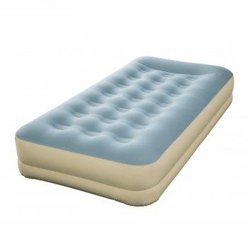 Кровать надувная refined fortech twin 191х97х33 см, со встроенным насосом