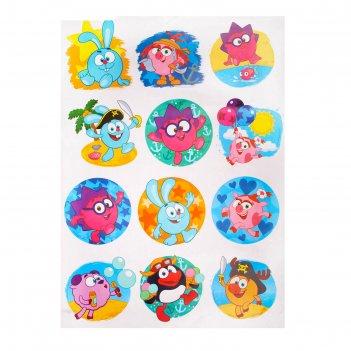 Наклейки детские декоративные в ванну смешарики смешарики