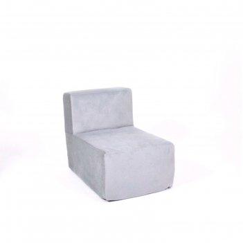 Кресло-модуль «тетрис», размер 50 x 80 см, серый, велюр