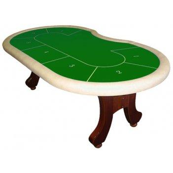 Стол для покера action (10 боксов; зеленое сукно, коричневые борта)