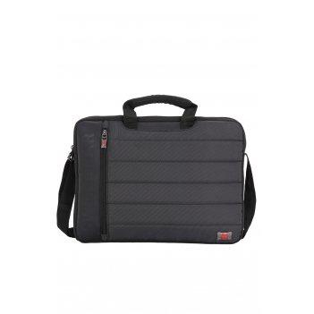 Сумка swissgear для ноутбука 17, черная/серая, полиэстер 600d/добби, 42х8x