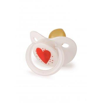 Соска-пустышка латекс капля, 0+ сердечко