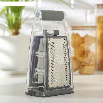 Терка кухонная premium abs-пластик, нерж. сталь 13,5х8,5 см