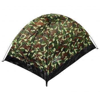 Палатка туристическая sande ii 205х150х105 см, 2-местная, цвет милитари