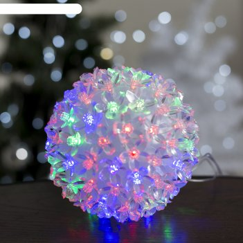 Фигура шар из цветов 15х15 см, пластик, 100 led, 240v rg/rb