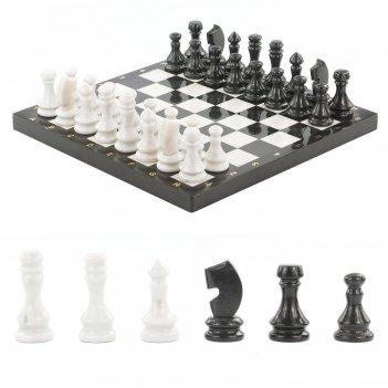 Шахматы мрамор змеевик 390х390 мм