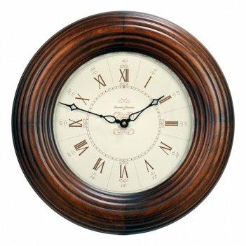 324 орех антик. часы настенные d.37