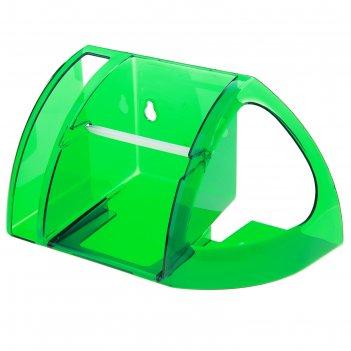 Полка для туалета, зеленая