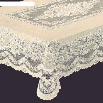 Скатерть ажурная presea, 120х150 см, сепия