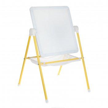 Мольберт детский универсальный, цвет бело-жёлтый