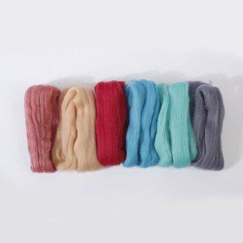 Набор шерсти для валяния нежные прикосновения