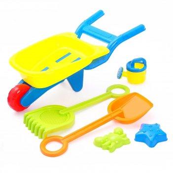 Песочный набор «тачка с инструментами»