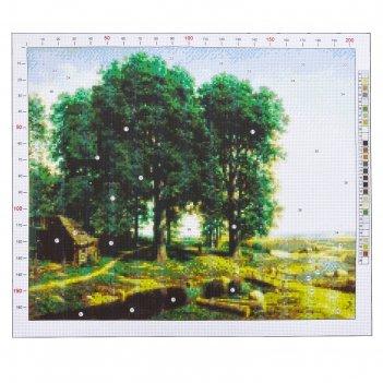 Канва для вышивания с рисунком «клодт. дубовая роща», 47 х 39 см