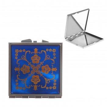 Зеркало компактное ассорти в форме квадрата, микс, с увеличением