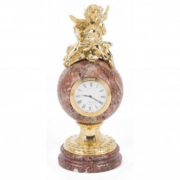 Часы два ангела креноид бронза 90х90х225 мм 2100 гр.