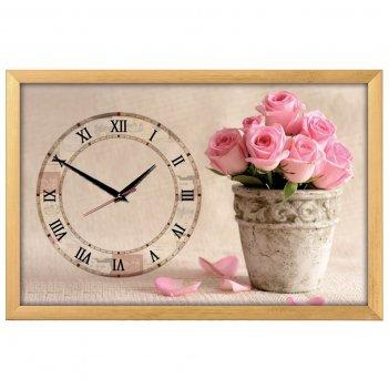 Настенные часы из песка династия 03-160 букет роз