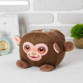 Мягкая игрушка-копилка «обезьянка», со звуком, с подсветкой