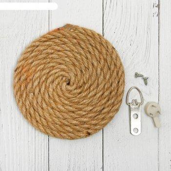 Основа для творчества и декорирования круг из веревки диаметр 10 см, крепл