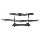 сувенирное оружие «катаны на подставке», серебряные ножны под тигра