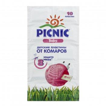 Пластины от комаров picnic baby, 10 шт