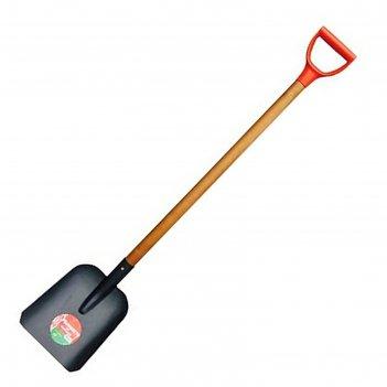 Лопата совковая, толщина штыка 1.6 мм, рёбра жесткости, черенок, с ручкой
