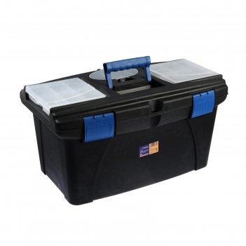 Ящик для инструмента tundra, 22, 56.5x32.5x29 см, пластиковый, подвижной л