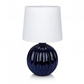 Настольная лампа melanie 1x40вт e14 голубой