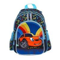 Рюкзак детский на молнии, 1 отдел, 3 наружных кармана, голубой