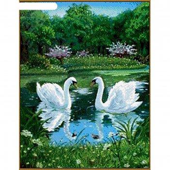 Алмазная мозаика лебеди, 26 цветов