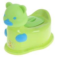 Горшок детский мишка с крышкой, съемный горшок, микс