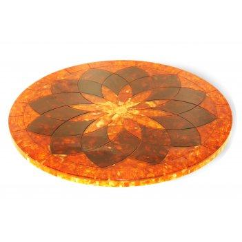 Столешница цветок из янтаря