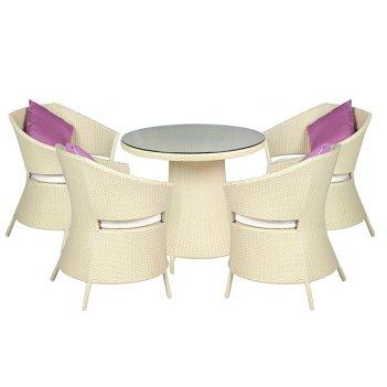 Комплект мебели из искусственного ротанга бриз (слоновая кость)