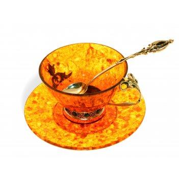 Чайная чашка восточная сказка из янтаря