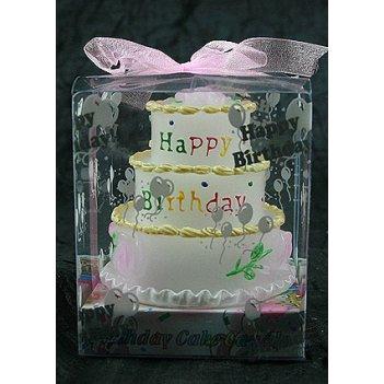 Свеча с днем рождения 8*8см