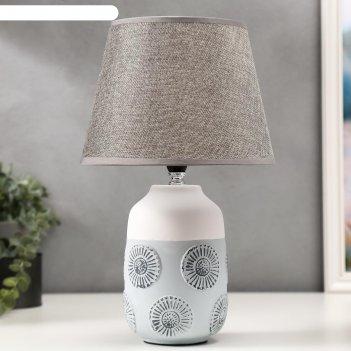 Лампа настольная 16253/1gr е14 40вт бело-серый 22,5х22,5х37 см