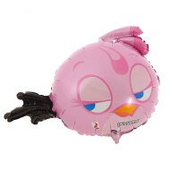 Шар фольга angry birds розовая а30 12 д/палочки аг