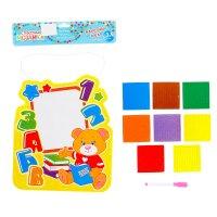 Стикерная мозаика, доска для рисования, 2 в 1, учимся вместе + маркер