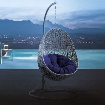 Круглые качели гнездо с сеткой mi casa mallorca, садовая мебель