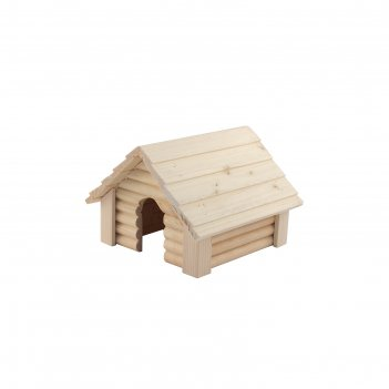 Домик для грызунов сарайчик 17 х 17,5 х 12,5 см, массив дерева