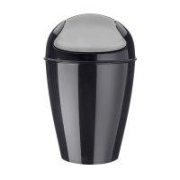 Корзина для мусора с крышкой del s, 5 л, чёрная