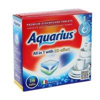 Таблетки aquarius для посудомоечных машин  all in1,  14 шт