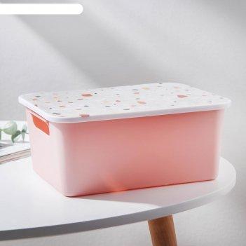Контейнер для хранения с крышкой мармелад 24х18х10,5 см, цвет микс